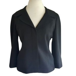 Ann Taylor Loft Black Blazer Jacket Sz 10 Modern